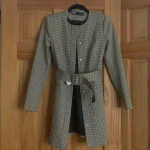 Zara XS Plaid Jacket. Never Worn. Great condition